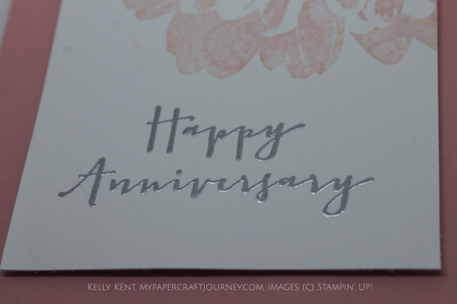 Happy Stamp-A-Versary to Me! Definitely Dahlia & Timeless Love. Kelly Kent - mypapercraftjourney.com.