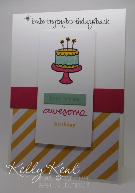 #imbringingbirthdaysback Birthday Class. Endless BIirthday Wishes & It's My Party DSP. Kelly Kent - mypapercraftjourney.com.