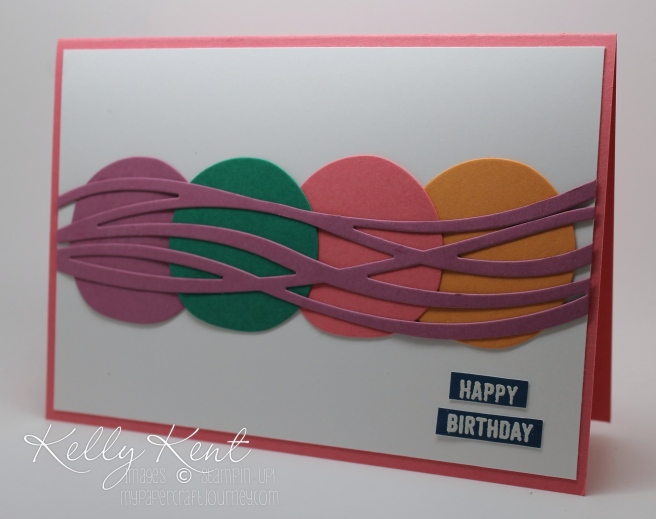 Happy Birthday to Me! New catalogue pre-order 2016=2018 In Color birthday present plus Swirly Scribbles Thinlits & Thoughtful Banners Stamp Set. Kelly Kent - mypapercraftjourney.com.
