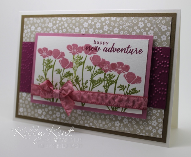 Wild About Flowers stamp set - featuring the soon-to-be-released Sweet Sugarplum. Kelly Kent - mypapercraftjourney.com.