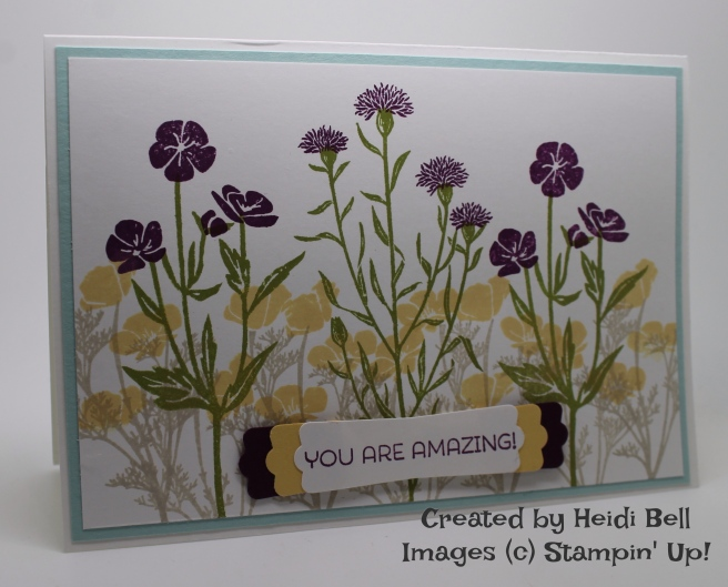 Wild About Flowers card - created by Heidi Bell.