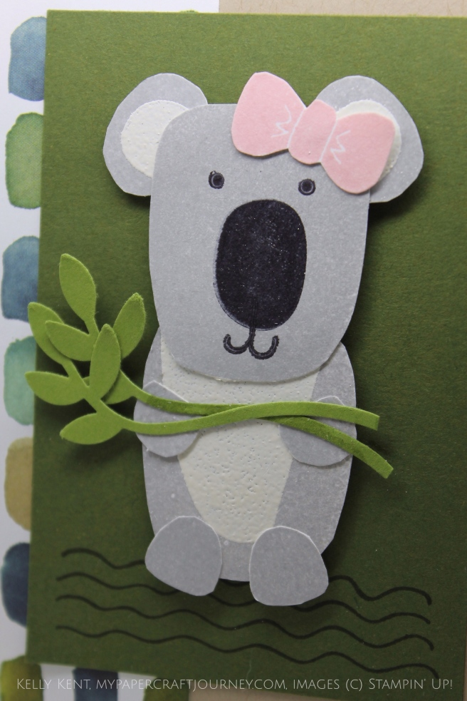 Playful Pals Koala Birthday Card #imbringingbirthdaysback. Happy Birthday to Shannon West! Kelly Kent - mypapercraftjourney.com.