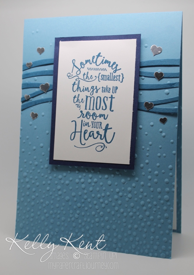 2016 Annual Catalogue Launch: Dapper Denim, Layering Love stamp set & Swirly Scribbles thinlits.  Kelly Kent - mypapercraftjourney.com.