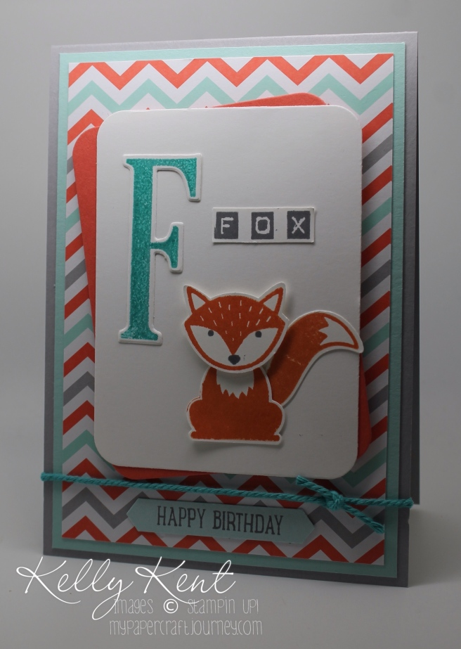 Foxy Friends bundle & Large Letters bundle. Kelly Kent - mypapercraftjourney.com.