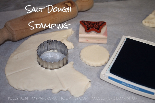 Stamp Review Crew: Papillon Potpourri. Salt Dough Stamping - Butterfly Memory Game. Kelly Kent - mypapercraftjourney.com.