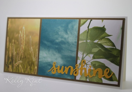 Sunshine card using Serene Scenery DSP. Kelly Kent - mypapercraftjourney.com.