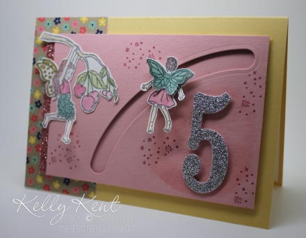 Magical Birthday Fairy Slider Card. Kelly Kent - mypapercraftjourney.com.