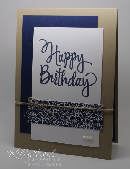 Putting Together The Birthday Pieces - Stylized Birthday stamp & Floral Boutique DSP. Kelly Kent - mypapercraftjourney.com