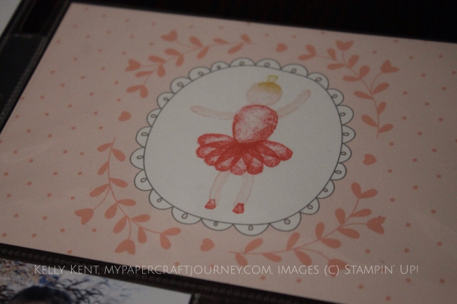Project Life - Little Miss Papercraft Ballerina using Baby Girl card collection. Kelly Kent - mypapercraftjourney.com.