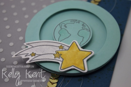 CASEing the Catty #86 - Everyday Occasions. Shooting Star Spinner Card. Kelly Kent - mypapercraftjourney.com.