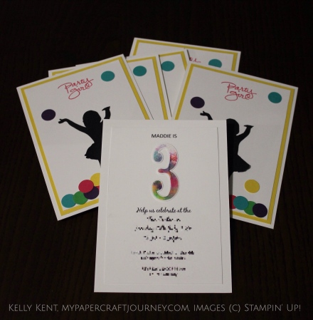 Party Girl Invites 2016. Kelly Kent - mypapercraftjourney.com.