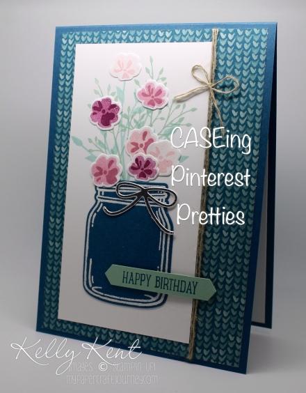 CASEing Pinterest Pretties on my weekend Craft Retreat. Original by Julie DeGuia. Kelly Kent - mypapercraftjourney.com.