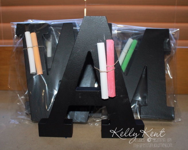 DIY Chalkboard Letters using Stampin' Up! supplies. Kelly Kent - mypapercraftjourney.com.