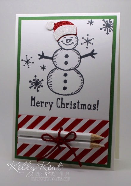 DIY Colouring Cards - Snow Place Christmas. Black & white images with pencils attached. Fun for kids & adults! Kelly Kent - mypapercraftjourney.com.