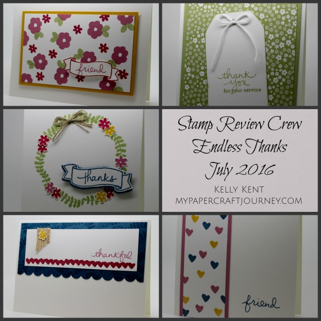 Stamp Review Crew - Endless Thanks. Kelly Kent - mypapercraftjourney.com.