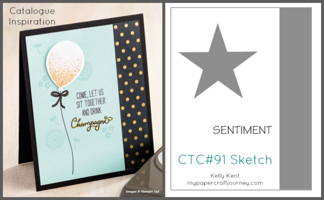 CASEing the Catty #91 - Catalogue inspired sketch. Kelly Kent - mypapercraftjourney.com