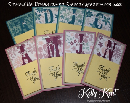 Personalised Decorated Post-It Notes. Large Letters framelits, One Big Meaning stamp set and Blooms & Bliss DSP.