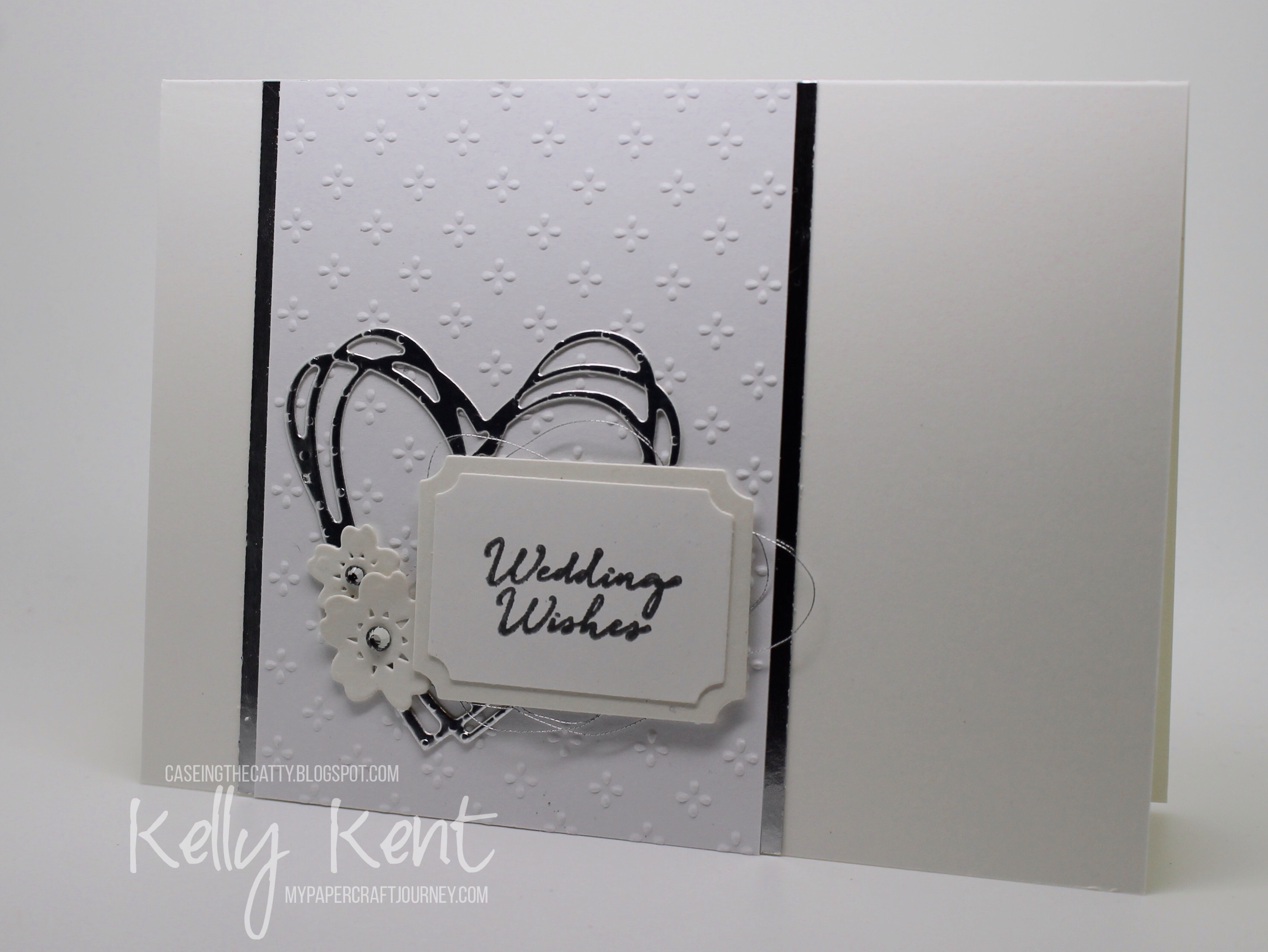 CASEing the Catty #92 - Everyday Occasions. Wedding Wishes Trio - Silver. Kelly Kent - mypapercraftjourney.com.