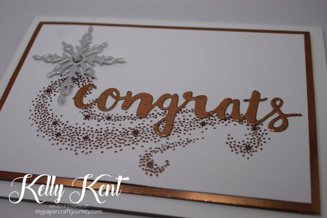Star of Light Copper Congrats Card. Kelly Kent - mypapercraftjourney.com.