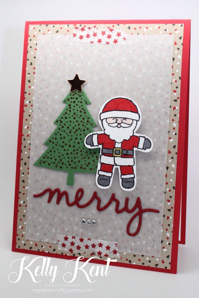 2016 Holiday Catalogue - Cookie Cutter bundle. Santa + Perfect Pines stamp set. Kelly Kent - mypapercraftjourney.com.