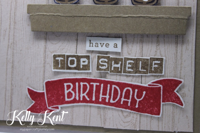 Top Shelf Birthday - Mixed Drinks stamp set. Kelly Kent - mypapercraftjourney.com.