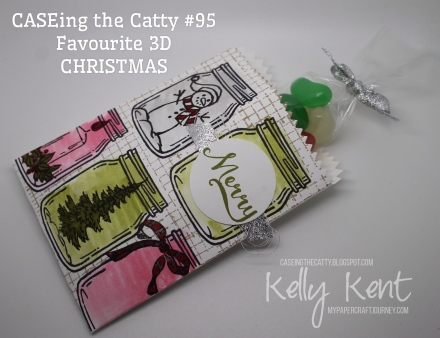 CASEing the Catty #95 - Favourite Holiday 3D item. Jar of Cheer - Christmas version. Kelly Kent - mypapercraftjourney.com.