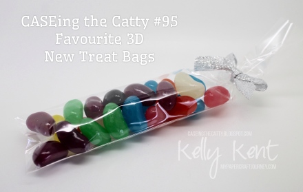 CASEing the Catty #95 - Jelly Bean filled Treat Bags. Kelly Kent - mypapercraftjourney.com.