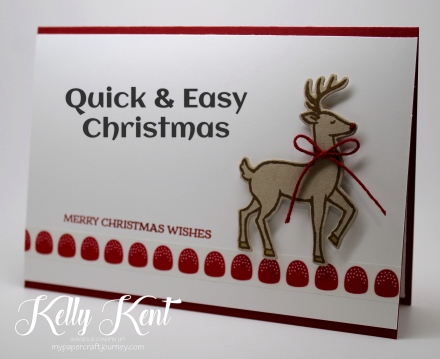 Quick & Easy Christmas Cards - Santa's Sleigh. Kelly Kent - mypapercraftjourney.com.