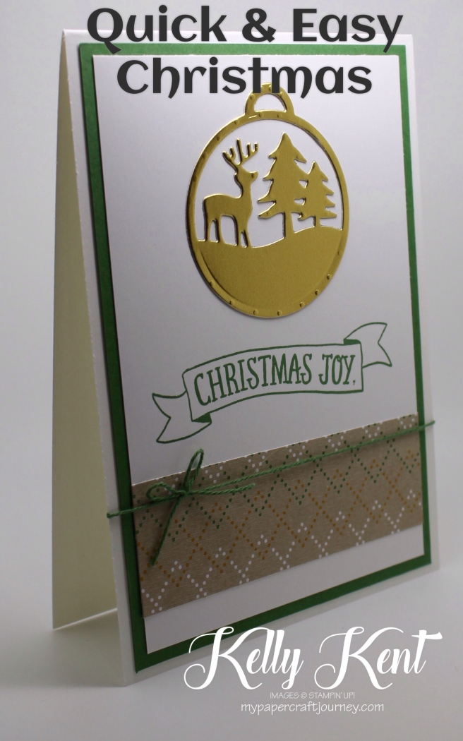 Quick & Easy Christmas Cards - Stitched with Cheer & Merry Tags. Kelly Kent - mypapercraftjourney.com.