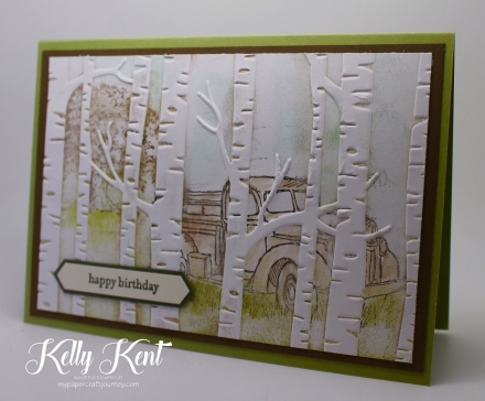 Behind The Trees - Country Livin' & Lovely As A Tree stamp sets. Kelly Kent - mypapercraftjourney.com.