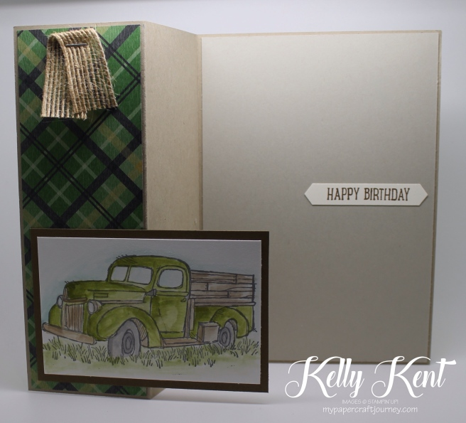 Fold Out Card - Country Livin' truck. Kelly Kent - mypapercraftjourney.com.