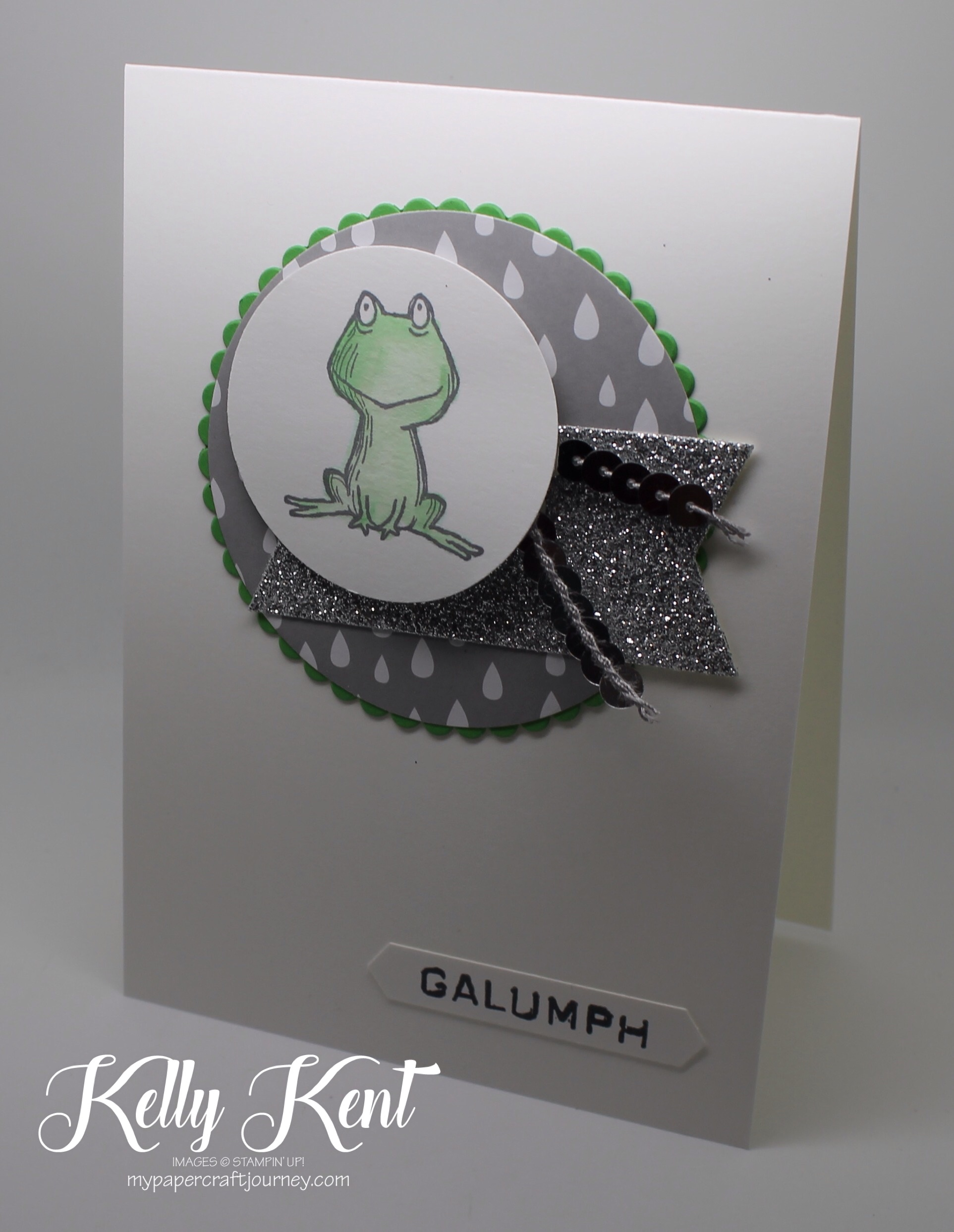 Stamp Review Crew - Love You Lots Host stamp set. Nursery Rhyme set: Galump went the little green frog. Kelly Kent - mypapercraftjourney.com.