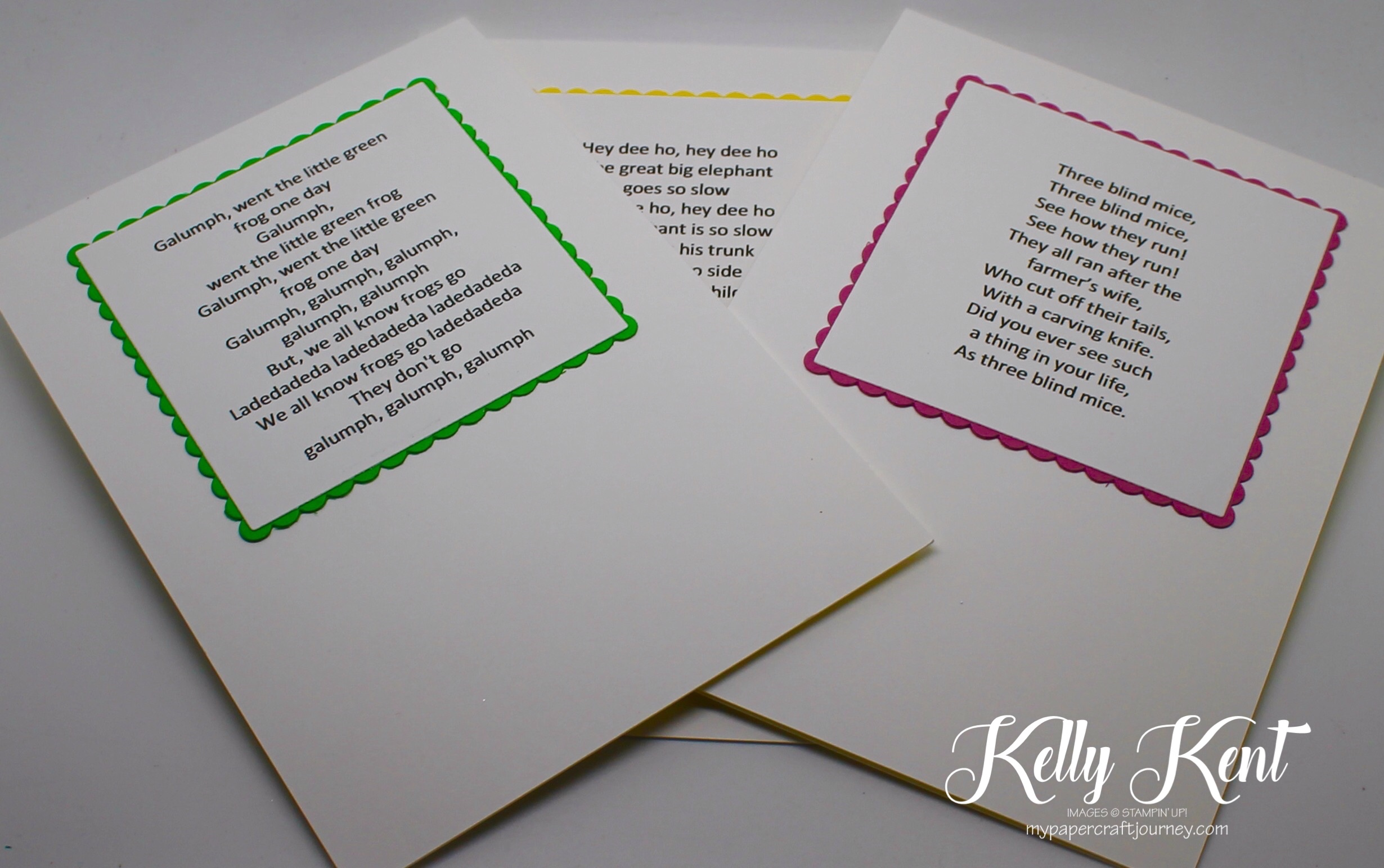 Stamp Review Crew - Love You Lots Host stamp set. Nursery Rhyme Set. Kelly Kent - mypapercraftjourney.com