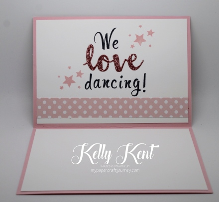 Ultimate Pink Blog Hop - We Love Dancing. Kelly Kent - mypapercraftjourney.com.