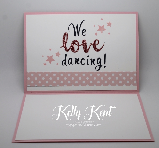 Ultimate Pink Blog Hop - We Love Dancing. Kelly Kent - mypapercraftjourney.com.