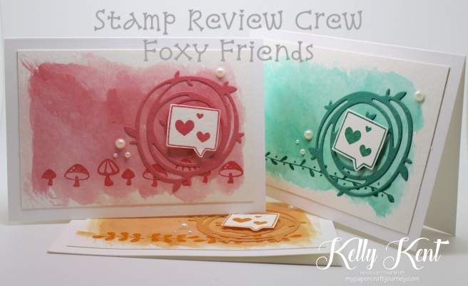 Stamp Review Crew - Foxy Friends stamp set. Watercolour Notecard Set. Kelly Kent - mypapercraftjourney.com.