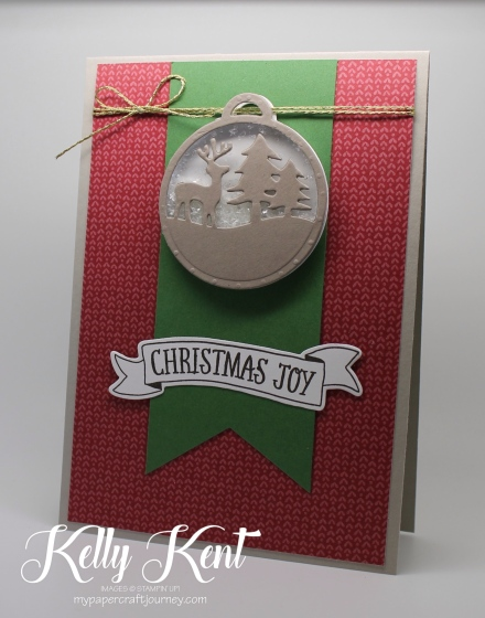 Presents & Pinecones Shaker Card Class - Christmas Joy. Kelly Kent - mypapercraftjourney.com.