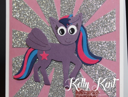 My Little Pony - Twilight Sparkle using Stampin' Up! punches & dies. Kelly Kent - mypapercraftjourney.com.