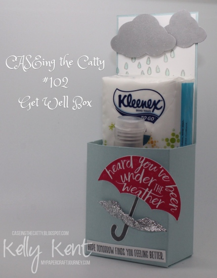 CASEing the Catty #102 - Get Well Gift Box. Kelly Kent - mypapercraftjourney.com.