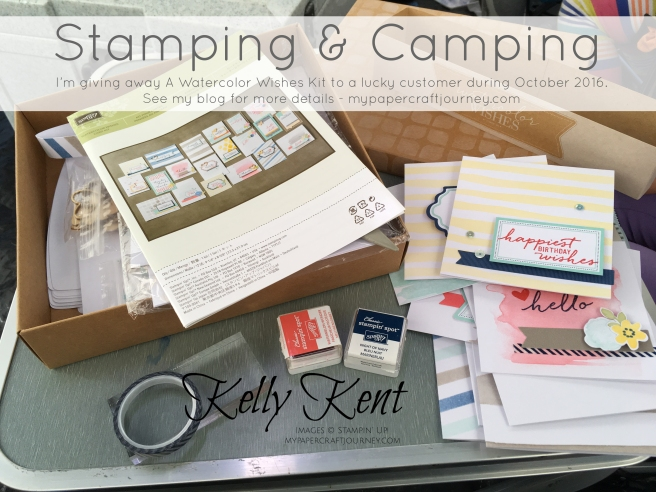 Stamping & Camping - Watercolor Wishes Kit Giveaway.  Kelly Kent - mypapercraftjourney.com.