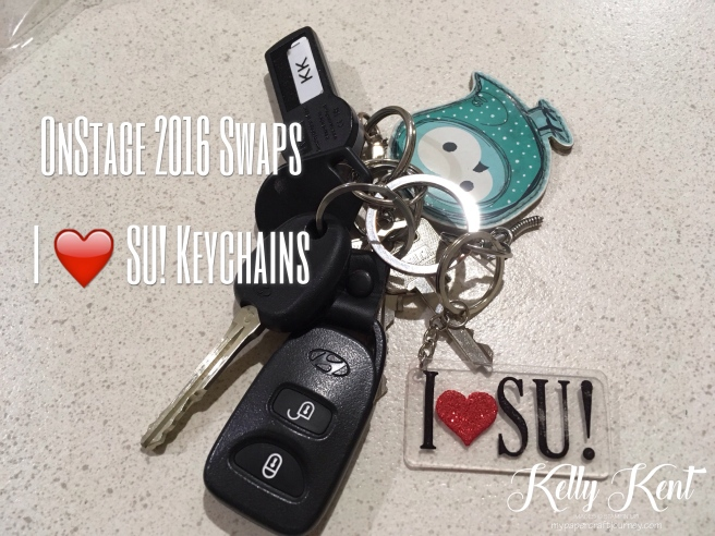 OnStage 2016 Swaps - I ❤️ Stampin' Up! Keychains. Kelly Kent - mypapercraftjourney.com.