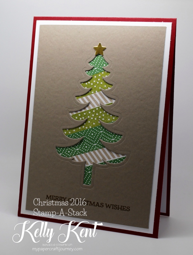 Christmas 2016 Stamp-A-Stack.  Kelly Kent - mypapercraftjourney.com.