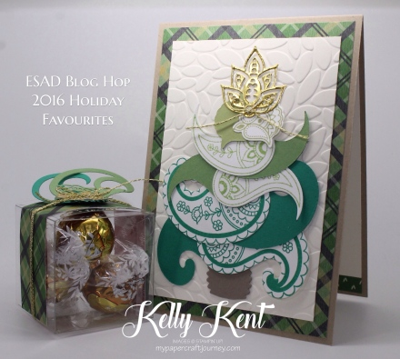ESAD 2016 Holiday Catalogue Favourites Blog Hop. Paisleys & Posies Christmas. Kelly Kent - mypapercraftjourney.com.