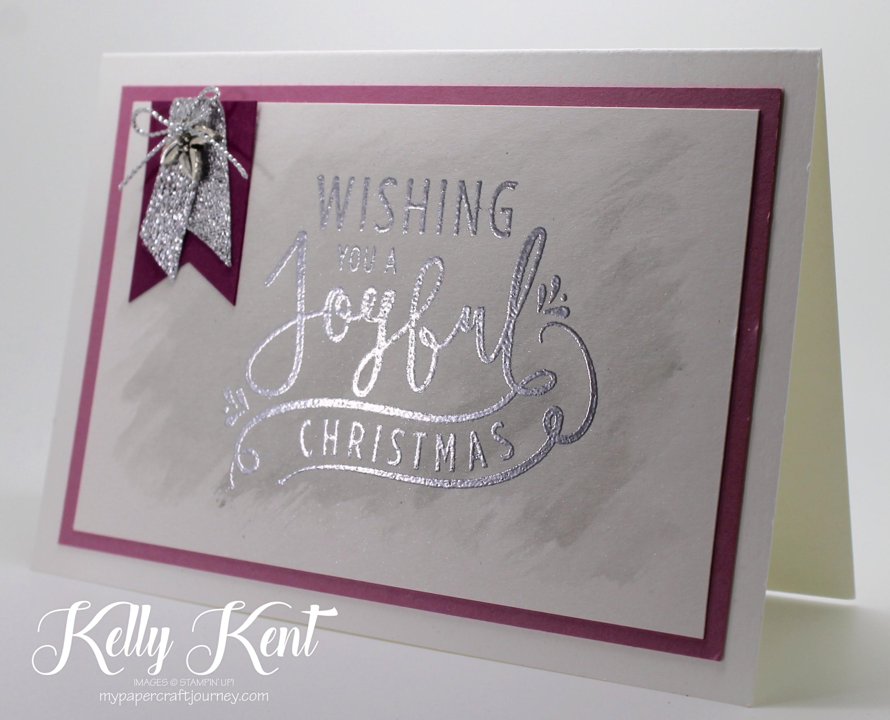 Wonderful Year Christmas card. Kelly Kent - mypapercraftjourney.com.
