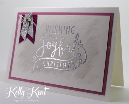 Wonderful Year Christmas card. Kelly Kent - mypapercraftjourney.com.