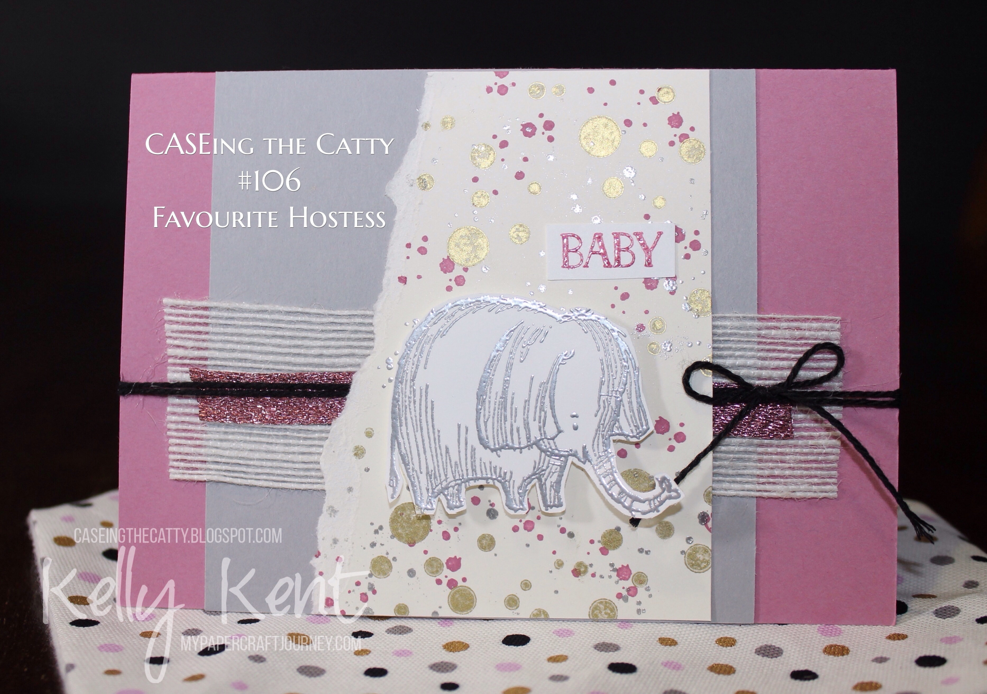 CASEing the Catty #106 - Favourite Hostess Set. Kelly Kent - mypapercraftjourney.com.