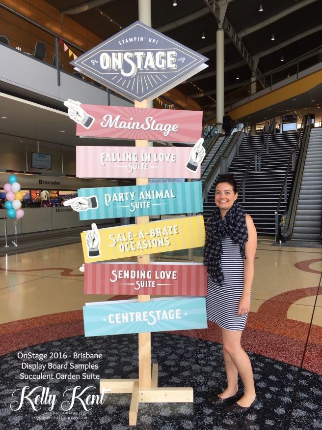 OnStage 2016 - Brisbane. Display Board Samples - Succulent Garden Suite. Kelly Kent - mypapercraftjourney.com.