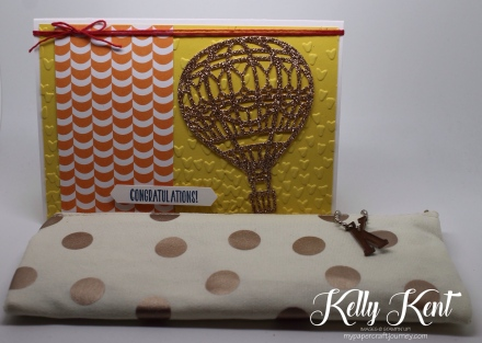 Hot Air Balloon Congratulations Card. Kelly Kent - mypapercraftjourney.com.