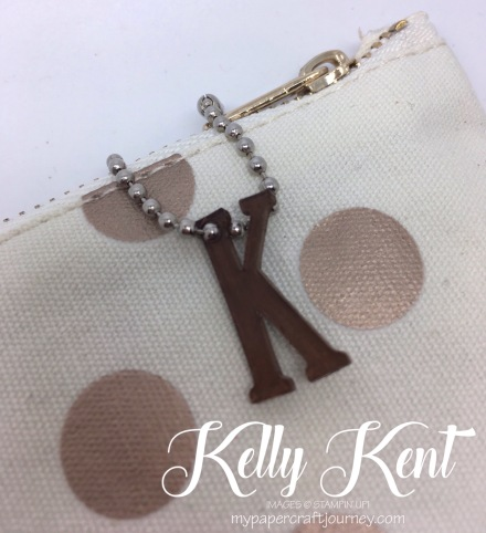 Shrink Letter Keychain. Kelly Kent - mypapercraftjourney.com.