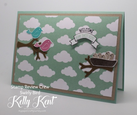 Stamp Review Crew - Swirly Bird. Kelly Kent - mypapercraftjourney.com.
